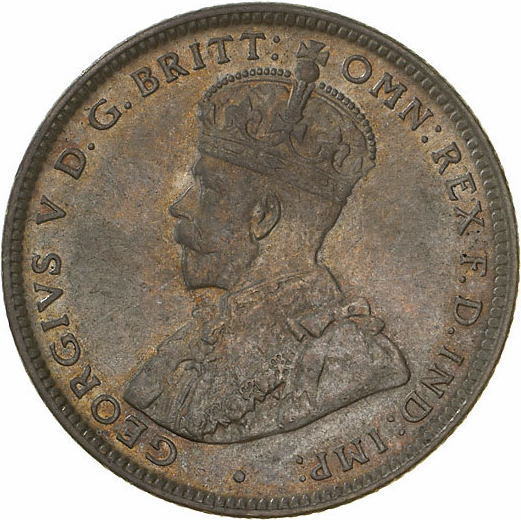 Obverse of 1920 no mintmark shilling